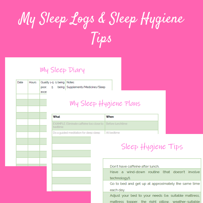 My sleep logs
