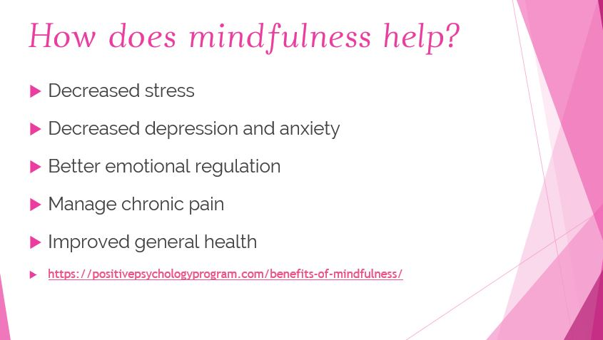 how does mindfulness help