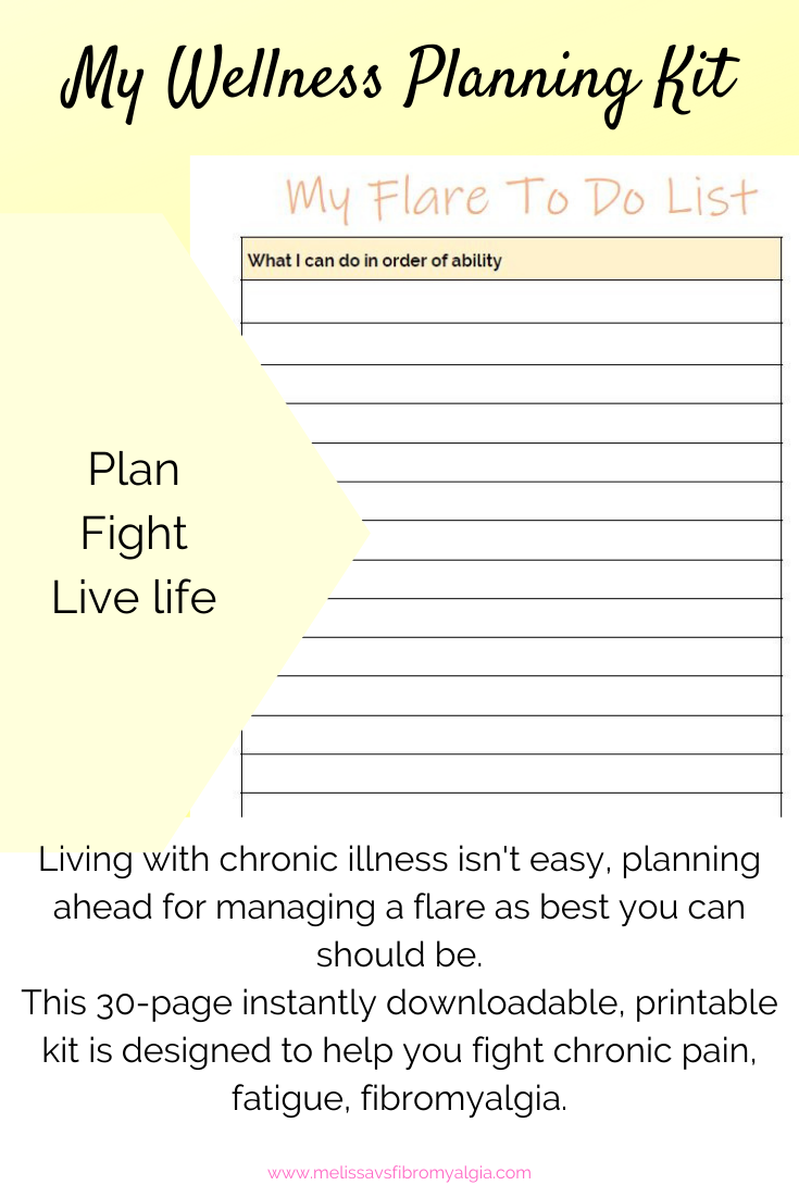 My Ultimate Fibromyalgia Planner Kit Melissa Vs Fibromyalgia