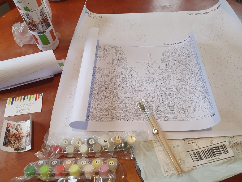 my paint by numbers kit