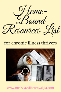 home-bound resources list
