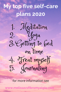 My top five self care plans for 2020