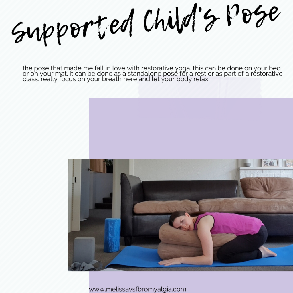 Supported childs pose