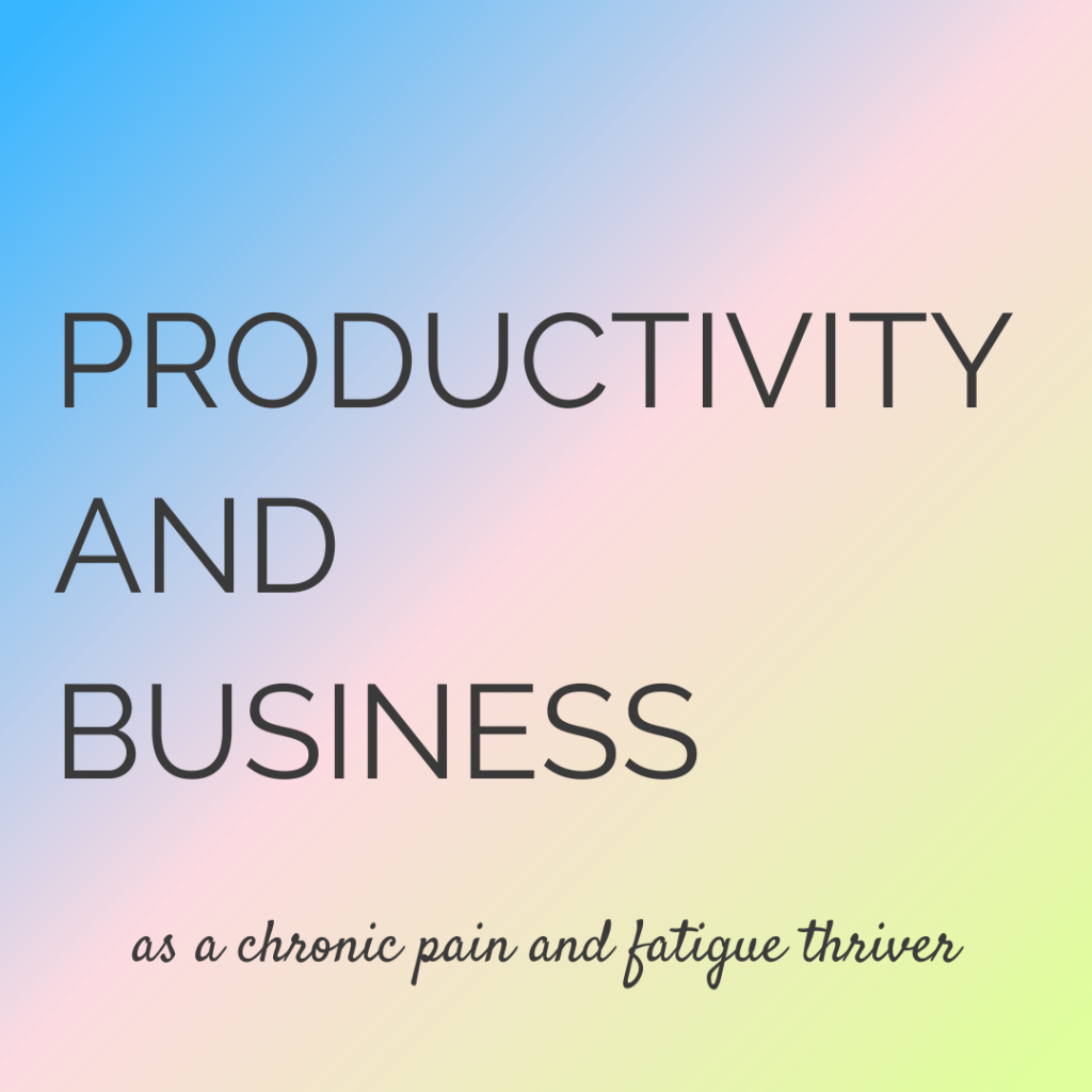 Productivity and business with fibromyalgia