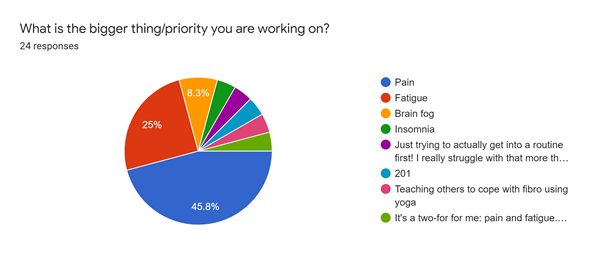 Melissa vs Fibromyalgia 2021 survey what is your current priority